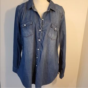 Torrid Denim Long Sleeve Button Down Shirt Top